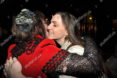 Press Night Curtain Call and After Party For Great Expectations at the Vaudeville Theatre the Strand and the Waldorf Hotel Aldwych London Custom Designer Annie Gosney & Anna Soderstrom