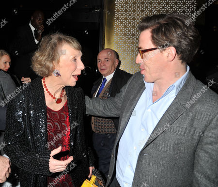 Press Night Curtain Call For the Ladykillers at the Gielgud Theatre Shaftsbury Ave and After Party at the Spice Market W Hotel Leicester Square London Marcia Warren with Rob Brydon