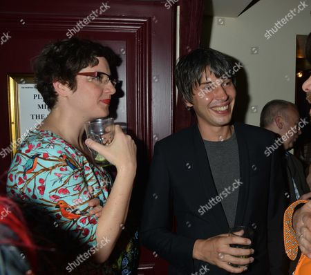 Press Night For Abigail's Party at the Wyndham's Theatre and After Show is at Walker's of Whitehall Prof Brian Cox and His Wife Gia Milinovich