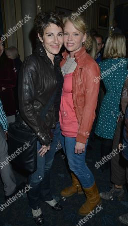 Press Night For Abigail's Party at the Wyndham's Theatre and After Show is at Walker's of Whitehall Tamsin Greig and Sara Crowe