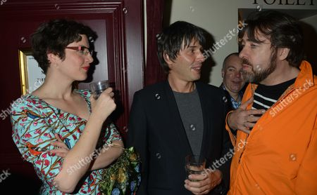 Press Night For Abigail's Party at the Wyndham's Theatre and After Show is at Walker's of Whitehall Prof Brian Cox and His Wife Gia Milinovich with Jonathan Ross