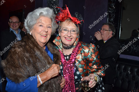 Press Night For Crazy For You at the Novello Theatre Aldwych and After Party at Jewel Maiden Lane Baroness Betty Boothroyd and Sue Pollard