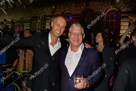 Press Night Curtain Call For Miss Saigon at the Prince Edward Theatre Old Compton Street Soho London & After Party at Somerset House the Strand the Shows Producer Sir Cameron Mackintosh with His Partner Michael Le Poer Trench