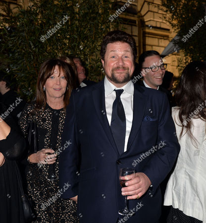 Press Night Curtain Call For Miss Saigon at the Prince Edward Theatre Old Compton Street Soho London & After Party at Somerset House the Strand Michael Ball and Cathy Mcgowan Watch the Firework Display