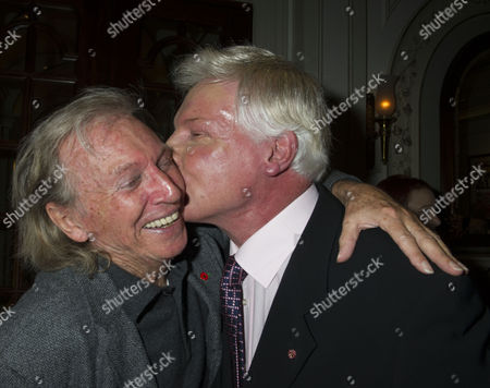 Press Night For Scrooge at the London Palladium Argyll Street Soho London the After Party Tommy Steele with Jess Conrad