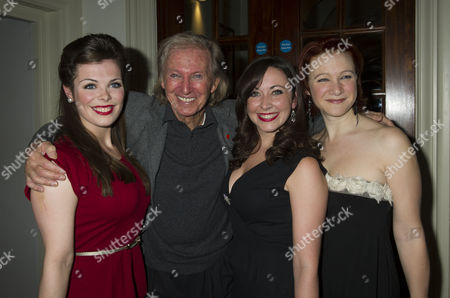 Press Night For Scrooge at the London Palladium Argyll Street Soho London the After Party Tommy Steele with Fellow Actors Anna Mcgarahan Sarah Earnshaw & Nikki Gerrard