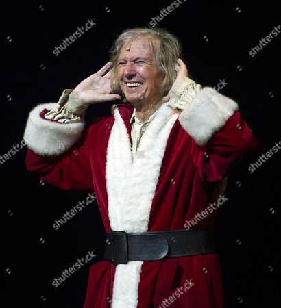 Press Night For Scrooge at the London Palladium Argyll Street Soho London Tommy Steele As Scrooge at the Curtain Call