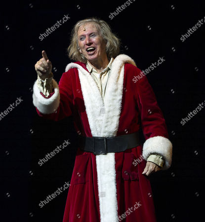 Stock Image of Press Night For Scrooge at the London Palladium Argyll Street Soho London Tommy Steele As Scrooge at the Curtain Call