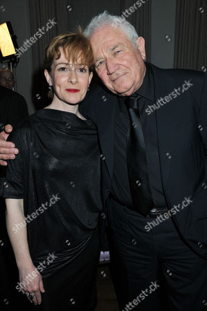 Press Night For the Kings Speech at Wyndham's Theatre Charing Cross Road London and Afterparty at the Langham Hilton Portland Place London Emma Fielding As Queen Elizabeth with the Writer David Seidler