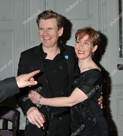 Press Night For the Kings Speech at Wyndham's Theatre Charing Cross Road London and Afterparty at the Langham Hilton Portland Place London Charles Edwards As King George Vi with Emma Fielding As Queen Elizabeth
