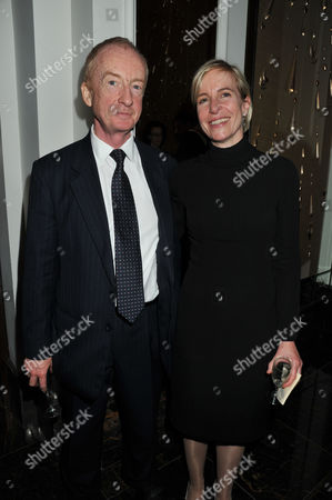 Press Night For the Kings Speech at Wyndham's Theatre Charing Cross Road London and Afterparty at the Langham Hilton Portland Place London Nicholas Witchell with His Wife