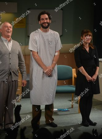 Press Night For the Lyons at the Menier Chocolate Factory Southwark Street London the Curtain Call Nicholas Day Tom Ellis & Charlotte Randle