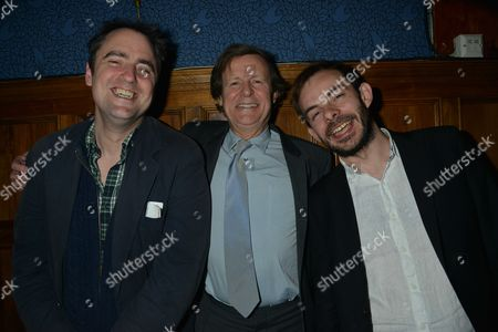 Press Night of South Downs & the Browning Version the Double Bill of Terence Rattigan's and David Hare's Specially Commissioned Companion Piece Transfer to Harold Pinter Theatre Patton Street London Sir David Hare © with the Directors Jeremy Herrin & Angus Jackson