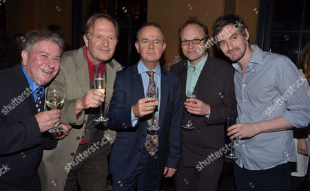 Stock Image of Private Eye: the First 50 Years - Private View at the Victoria & Albert Museum Cromwell Road London Mig Blanco Andrew Birch Ian Hislop Wilbur Dawbarn & Alexander Marshall
