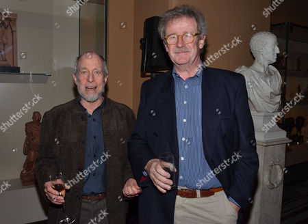 Private Eye: the First 50 Years - Private View at the Victoria & Albert Museum Cromwell Road London Sandy Lieberson & Professor Sir Christopher Frayling