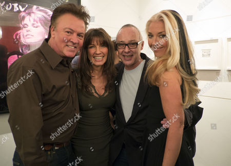 Private View of Bruno Bisang: 30 Years of Polaroids at the Little Black Gallery Park Walk Fulham West London Paul and Stacey Young Bruno Bisang & Tamara Beckwith