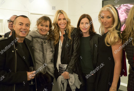 Private View of Bruno Bisang: 30 Years of Polaroids at the Little Black Gallery Park Walk Fulham West London Tamara Beckwith with Julian Mcdonald and Melissa Odabash with Friends