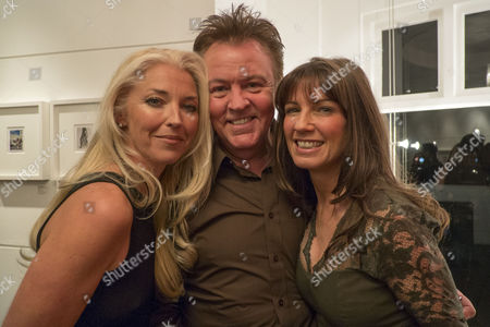 Private View of Bruno Bisang: 30 Years of Polaroids at the Little Black Gallery Park Walk Fulham West London Tamara Beckwith with Paul and Stacey Young