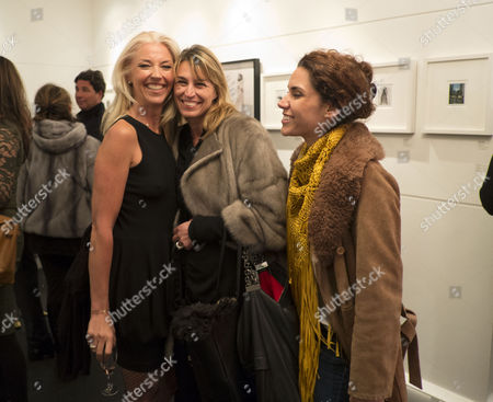 Private View of Bruno Bisang: 30 Years of Polaroids at the Little Black Gallery Park Walk Fulham West London Tamara Beckwith with Anastasia Webster
