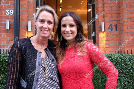 Annoushka Ducas and Roksana Ciurysek-gedir Private View of Diamonds in the Sky at Art at Annoushka Cadogan Gardens Chelsea London This is an Join Exhibition by Jewellery Designer Annoushka Ducas and Artist Roksana Ciurysek-gedir