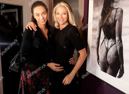 Private View of Girls Girls Girls at the Little Black Gallery Park Walk Fulham London Lily Becker & Tamara Veroni (beckwith)
