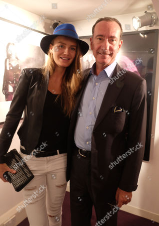 Private View of Girls Girls Girls at the Little Black Gallery Park Walk Fulham London Robert Hanson and His Wife Masha Markova