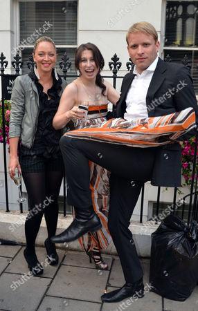 Private View of Scream Now at Scream Gallery Bruton Street Mayfair London Jodie Wood Anna Abramovich & Jamie Wood