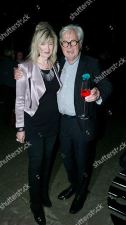 Private View of the Tanks at Tate Modern Bankside London Julia Somerville and Sir Jeremy Dixon Her 65th Birthday Was On Saturday
