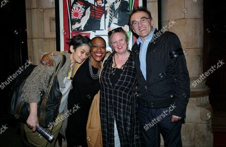 Reasons to Be Cheerful 1st Night at the Hackney Empire Hackney London Suttirat Larlarb Paulette Randall Danny Boyle with the Shows Director Jenny Sealey