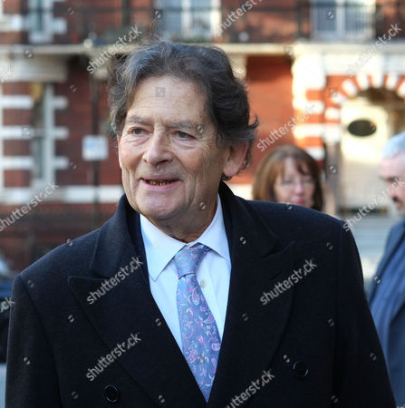 Requiem Mass For William the Lord Rees-mogg at Westminster Cathedral Lord Nigel Lawson