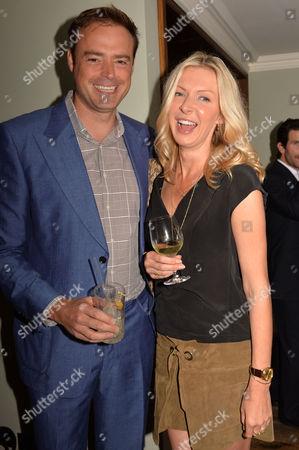 Restaurant Babylon Book Launch by Imogen Edwards-jones at Little House Curzon Street Mayfair London Jamie Theakston & His Wife Sophie Siegle
