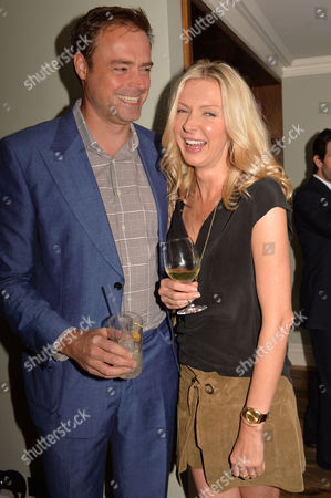 Stock Image of Restaurant Babylon Book Launch by Imogen Edwards-jones at Little House Curzon Street Mayfair London Jamie Theakston & His Wife Sophie Siegle