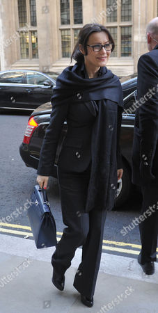 Stock Photo of Boris Berezovsky's Girlfriend Yelena Gorbunova Arrives at the High Court at the Rolls Building Holborn