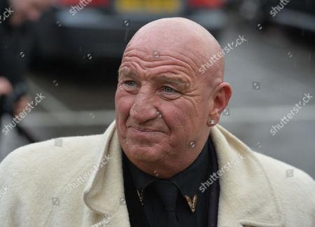 Ronnie Biggs' Funeral at Golder's Green Crematorium Dave Courtney