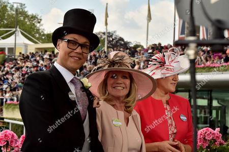 Royal Ascot Tuesday Gok Wan Ingrid Seward & Clare Balding