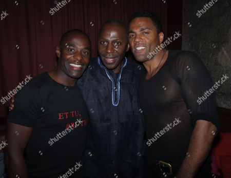 The Royal Shakespeare Company's Julius Caesar Press Night at the Noel Coward Theatre St Martins Lane Westminster Paterson Joseph Cyril Nri and Ray Fearon