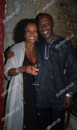The Royal Shakespeare Company's Julius Caesar Press Night at the Noel Coward Theatre St Martins Lane Westminster Adjoa Andoh & Cyril Nri