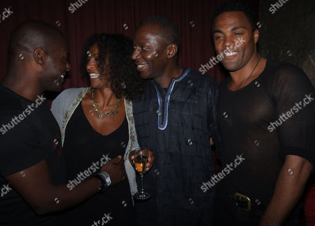 The Royal Shakespeare Company's Julius Caesar Press Night at the Noel Coward Theatre St Martins Lane Westminster Paterson Joseph Adjoa Andoh Cyril Nri and Ray Fearon
