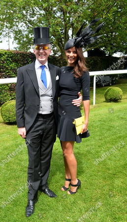 Scenes at the Investec Derby On Epsom Downs Jo Renwick and Philip Treacy