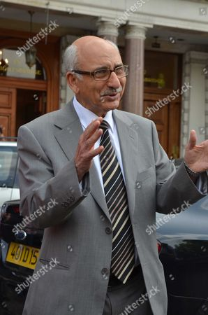 Stock Image of Scenes Outside the Libyan Embassy in Knightsbridge London Charge D'affaires of the Libyan Embassy Mahmud Nacua