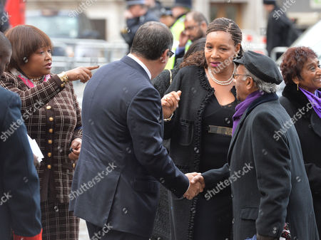 Prince Harry Will Represent the Queen at A National Service of Thanksgiving to Celebrate the Life of Nelson Mandela Former President of the Republic of South Africa at Westminster Abbey Westminster London Zenani Mandela ( in Black) with Her Sister Zindzi Mandela ( Brown Check )