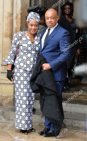 Prince Harry Will Represent the Queen at A National Service of Thanksgiving to Celebrate the Life of Nelson Mandela Former President of the Republic of South Africa at Westminster Abbey Westminster London Paul Boateng with His Wife Janet