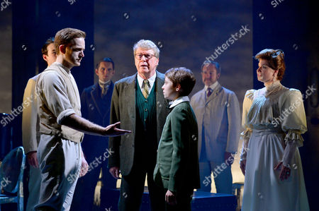 London, England, 6th June 2016: Stuart Ward, William Thompson, Michael Crawford and Issy Van Randwyck at the 'the Go Between' Photocall Held at the Apollo Theatre On Shaftesbury Avenue, London On the 6th June 2016.