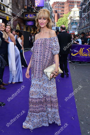 Stock Photo of London, England, 15th June 2016: Katherine Kelly Attend Aladdin Press Night at the Prince Edward Theatre 15th June 2016