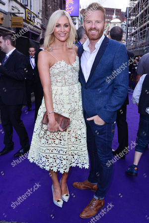 London, England, 15th June 2016: Jenni Falconer, James Midgley Attend Aladdin Press Night at the Prince Edward Theatre 15th June 2016