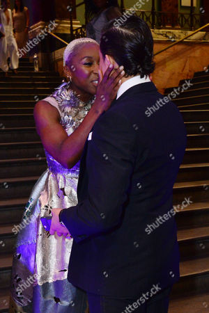 London, England, 15th June 2016: Cynthia Erivo with Dean John-wilson Attend Aladdin Press Night Afterparty at the National Gallery, 15th June 2016