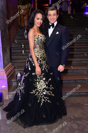 London, England, 15th June 2016: Co Stars, Jade Ewen with Dean John-wilson Attend Aladdin Press Night Afterparty at the National Gallery, 15th June 2016