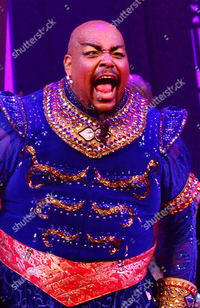 London, England, 15th June 2016: Trevor Dion Nicholas at the Press Night Curtain Call for Aladdin at the National Gallery, 15th June 2016