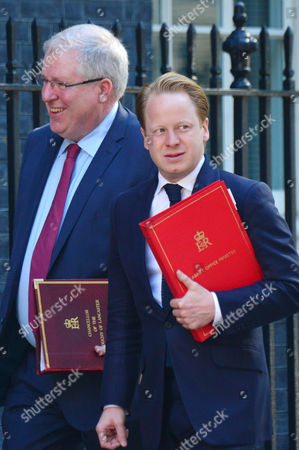 London, England, 19th July 2016: Patrick Mcloughlin and Ben Gummer Mp Arrive for Cabinet Meeting at Number 10 Downing Street Westminster London On the 19th July 2016