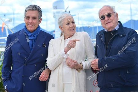 Cannes France 12th May 2016: Charles S. Cohen (distributor), Vanessa Redgrave and Jim Ivory at the 'howards End' Photocall As Part of the 2016 Cannes Film Festival in Cannes, France On the 12th May 2016.
